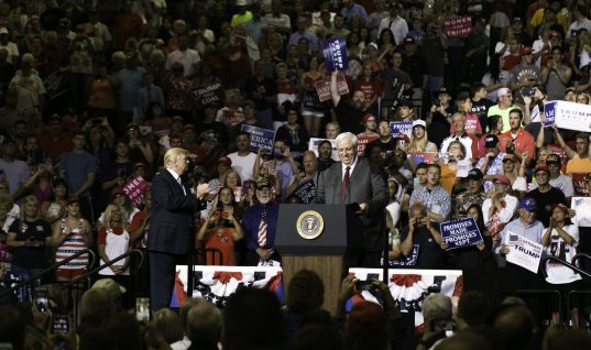 With Trump, West Virginia Gov. Jim Justice Announces he's Becoming a Republican. Again.