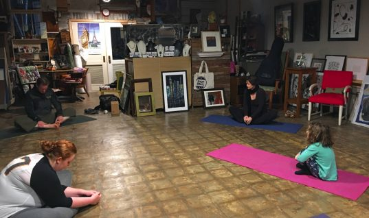 Rural by Choice: Yoga Nights at the Art & Frame