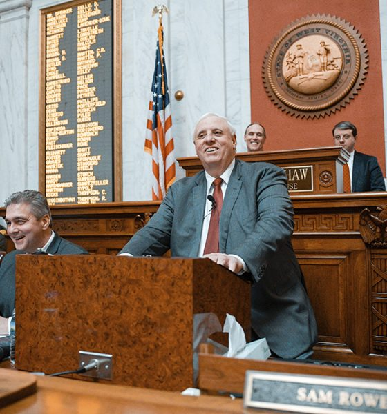 Gov. Jim Justice, R-W.Va., delivers his annual State of the State speech, Wednesday, Jan. 9, 2019, in Charleston, W.Va. Photo: Tyler Evert/AP Photo