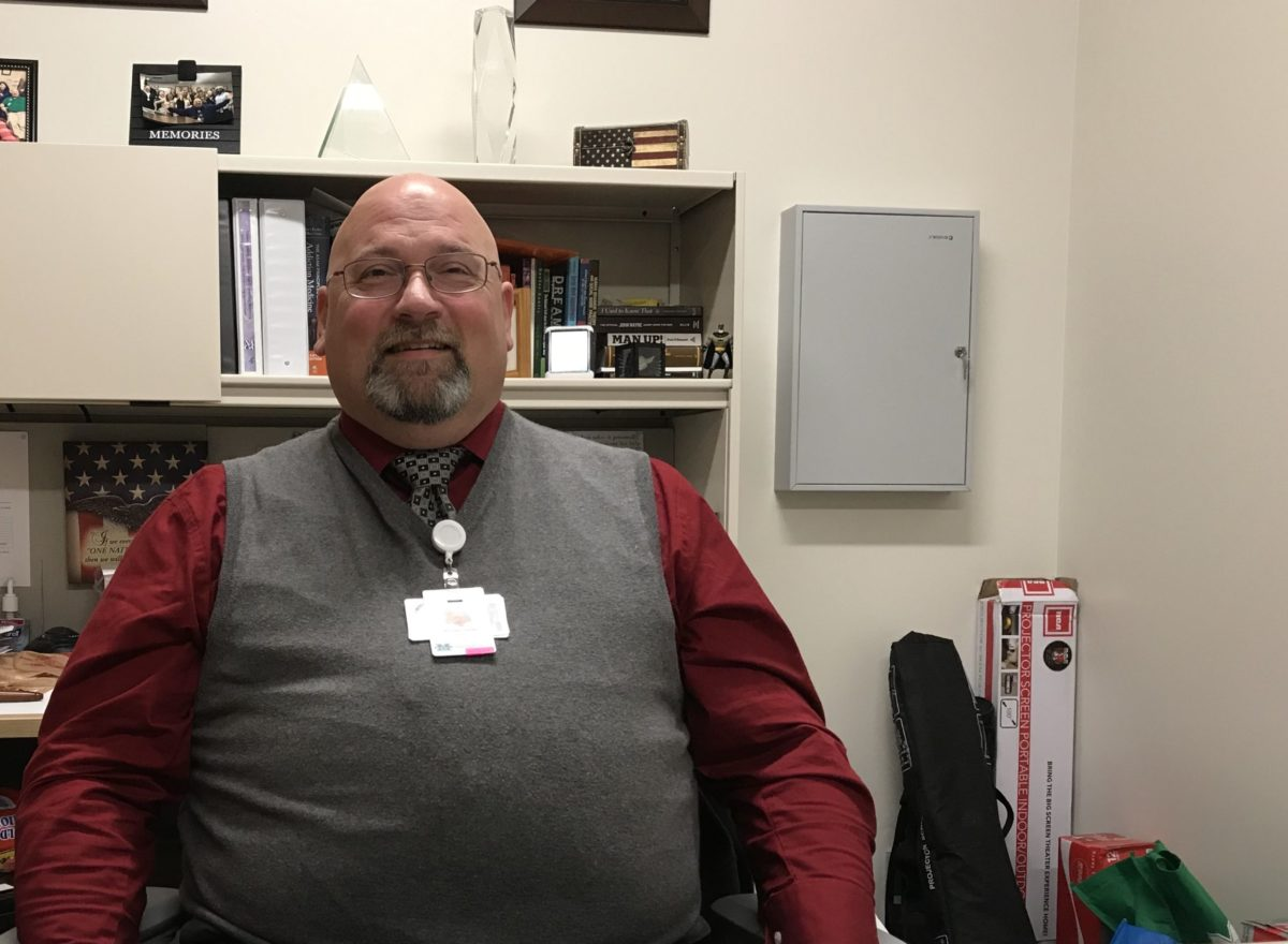 Executive Director Micheal Haney in his office at PROACT. Photo: Aaron Payne/Ohio Valley Resource