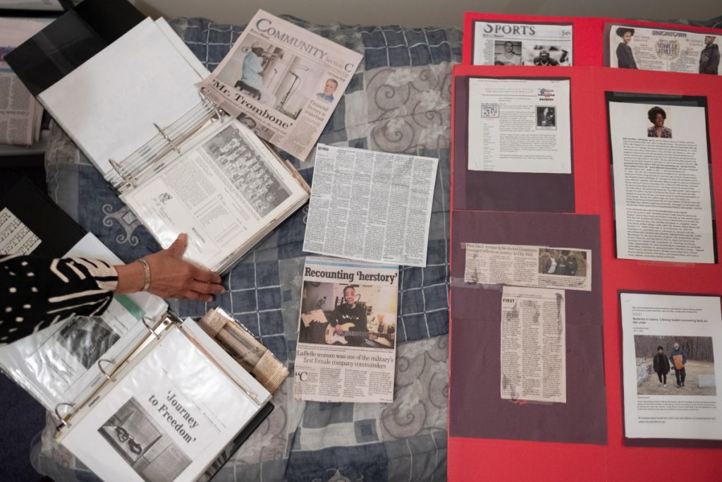 """Dr. Norma Thomas has largely compiled her history of the Black community in Uniontown by collecting family """"archives,"""" the paper, she says, families keep to tell their own stories. Photo: Justin Hayhurst/100 Days in Appalachia"""