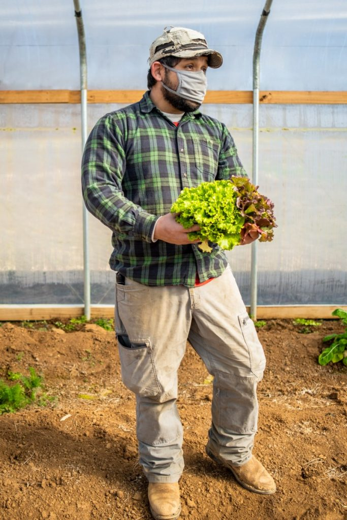 Salvador Moreno Jr. grew up around farming and now is integral to the  success of the family business. Photo: Aaron Dahlstrom/100 Days in Appalachia