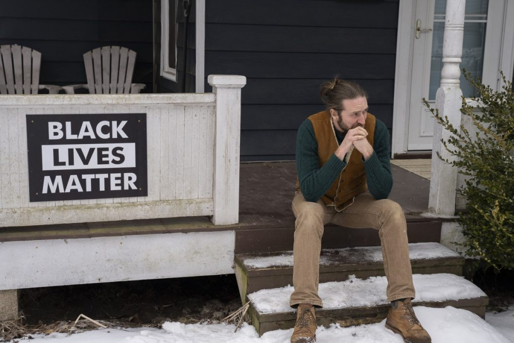 Ben Stewart. along with bandmate Brett Hill, played traditional Appalachian folk music in early 2020 for audiences in Ukraine and Belarus, before the COVID-19 pandemic essentially closed down in-person cultural exchanges around the world. Photo: Chad Reich/100 Days in Appalachia