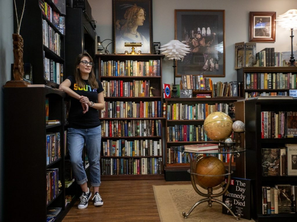 Kendra Winchester has writes book reviews for some national publications and also has a book podcast. Photo: Gavin McIntyre/100 Days in Appalachia