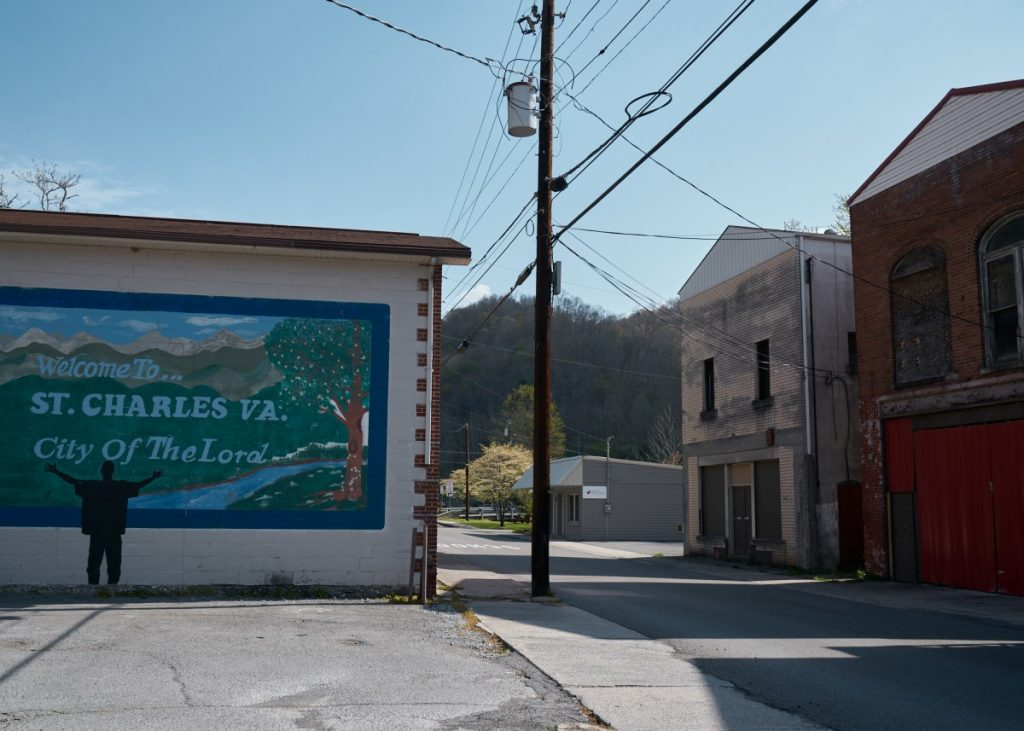 Downtown St. Charles, Virginia. Photo: Stacy Kranitz/100 Days in Appalachia