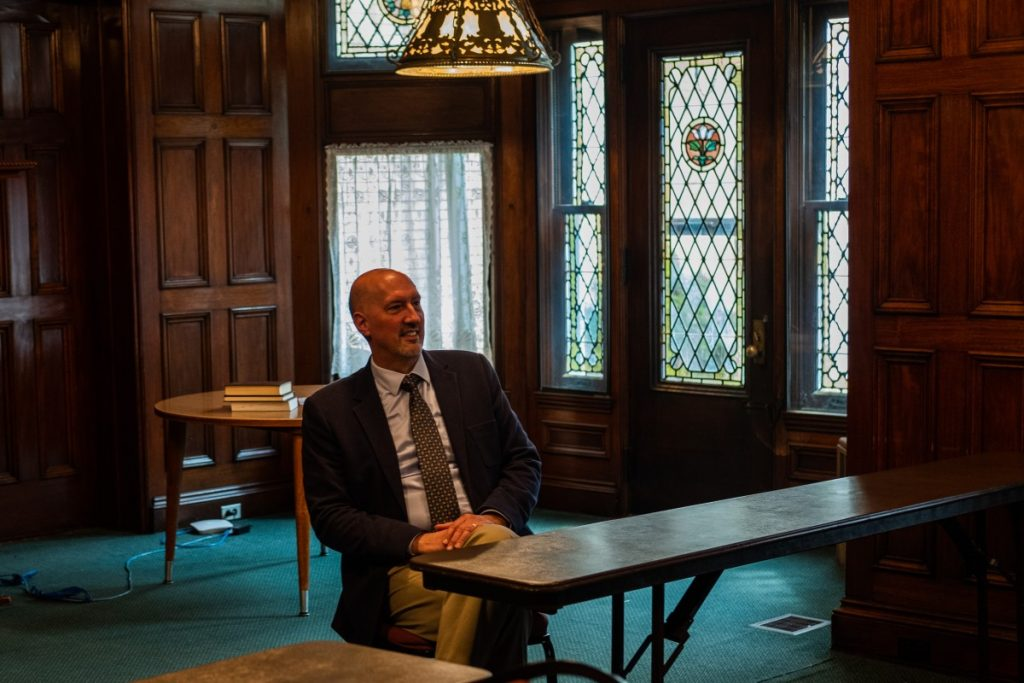 Barry York is the president of the Reformed Presbyterian Theological Seminary in Pittsburgh, Pennsylvania, an educational institution that offers Doctor of Ministry, Master of Divinity, and Master of Theological Studies degrees. Photo: Chris Jones/100 Days in Appalachia