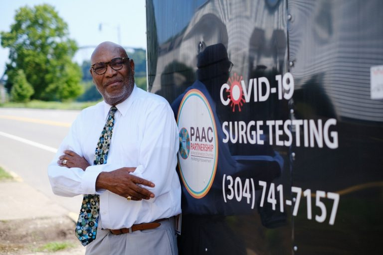 Rev. James Patterson is helping to lead efforts to increase vaccinations throughout West Virginia as the CEO of the Partnership of African American Churches. Photo: Chris Jackson/100 Days in Appalachia