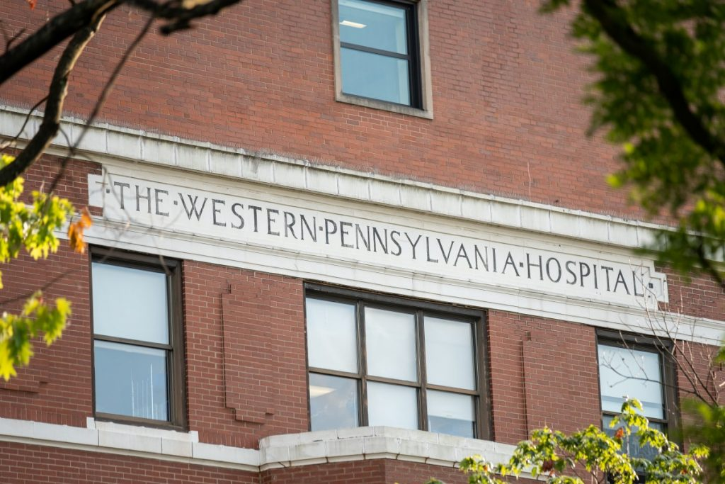West Penn Hospital is located in Pittsburgh's Bloomfield neighborhood  and was the first public chartered hospital in the city when it opened in 1848. Photo: Justin Hayhurst/100 Days in Appalachia
