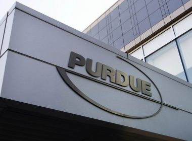 This Tuesday, May 8, 2007, file photo shows the logo for pharmaceutical giant Purdue Pharma at its offices in Stamford, Conn. Photo: Douglas Healey/AP Photo, File