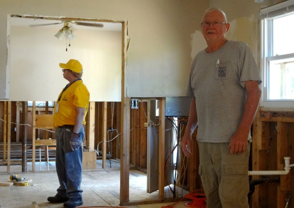 """Bill Martin, known as """"Bill the Baptist,"""" helps mobilize emergency repair teams through Baptists on Mission to respond to natural disasters like North Carolina's flooding. Photo: Taylor Sisk/100 Days in Appalachia"""