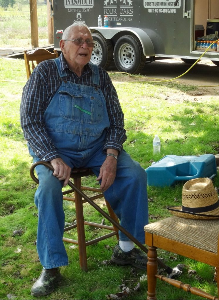 Roy Henson, 85, said he had never before seen anything like this flooding. Photo: Taylor Sisk/100 Days in Appalachia